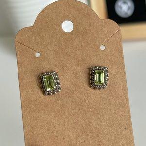Peridot Sterling Silver Post Earrings
